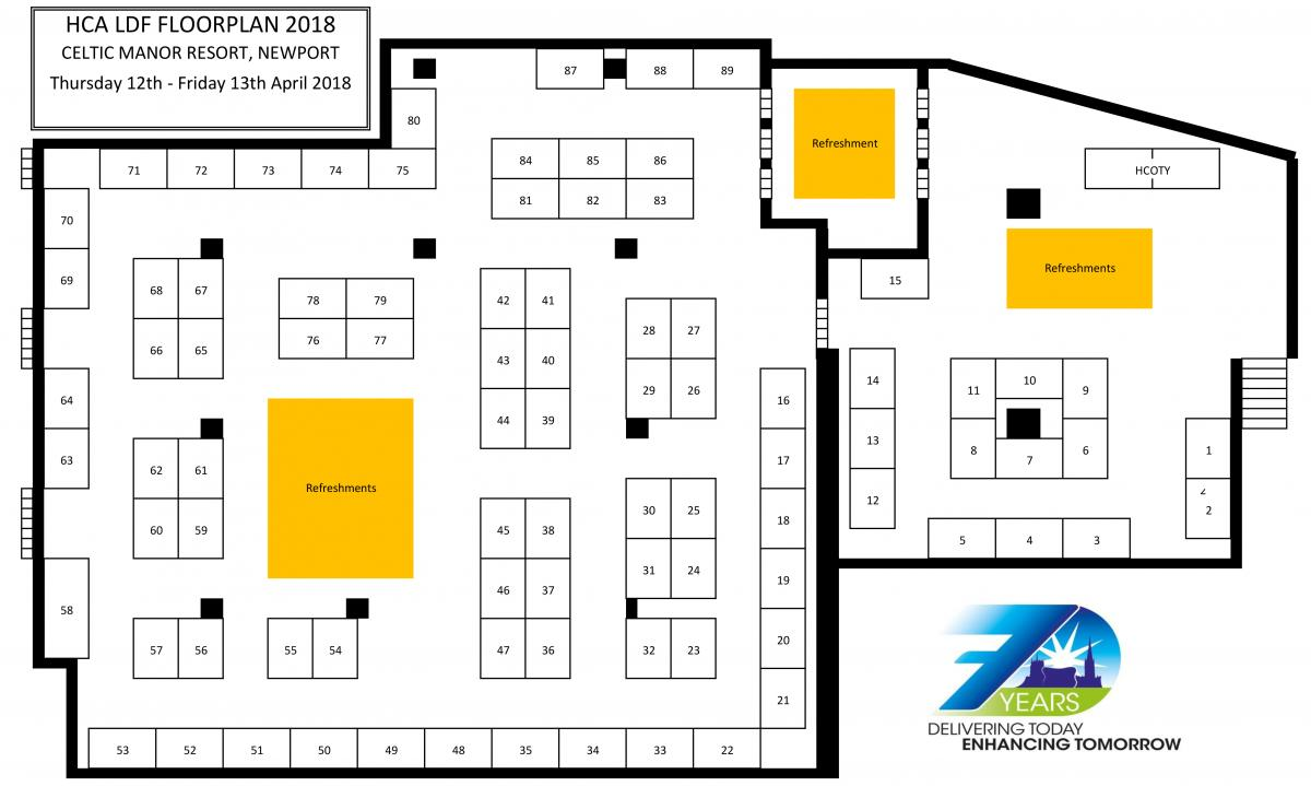 Exhibition Floor Plan D : Exhibition floor plan hospital caterers association